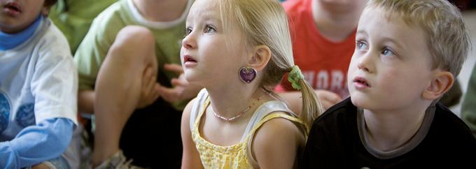 Children listening in the classroom