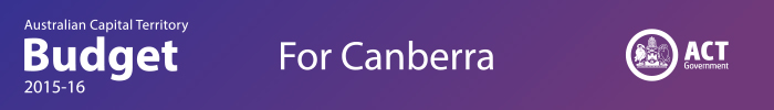 Australian Capital Territory Budget 2015-16 : For Canberra