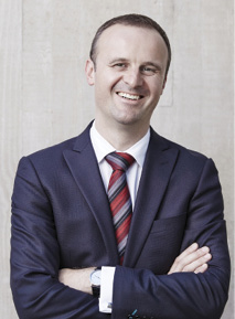 Portrait photo: Andrew Barr MLA, Chief Minister and Treasurer
